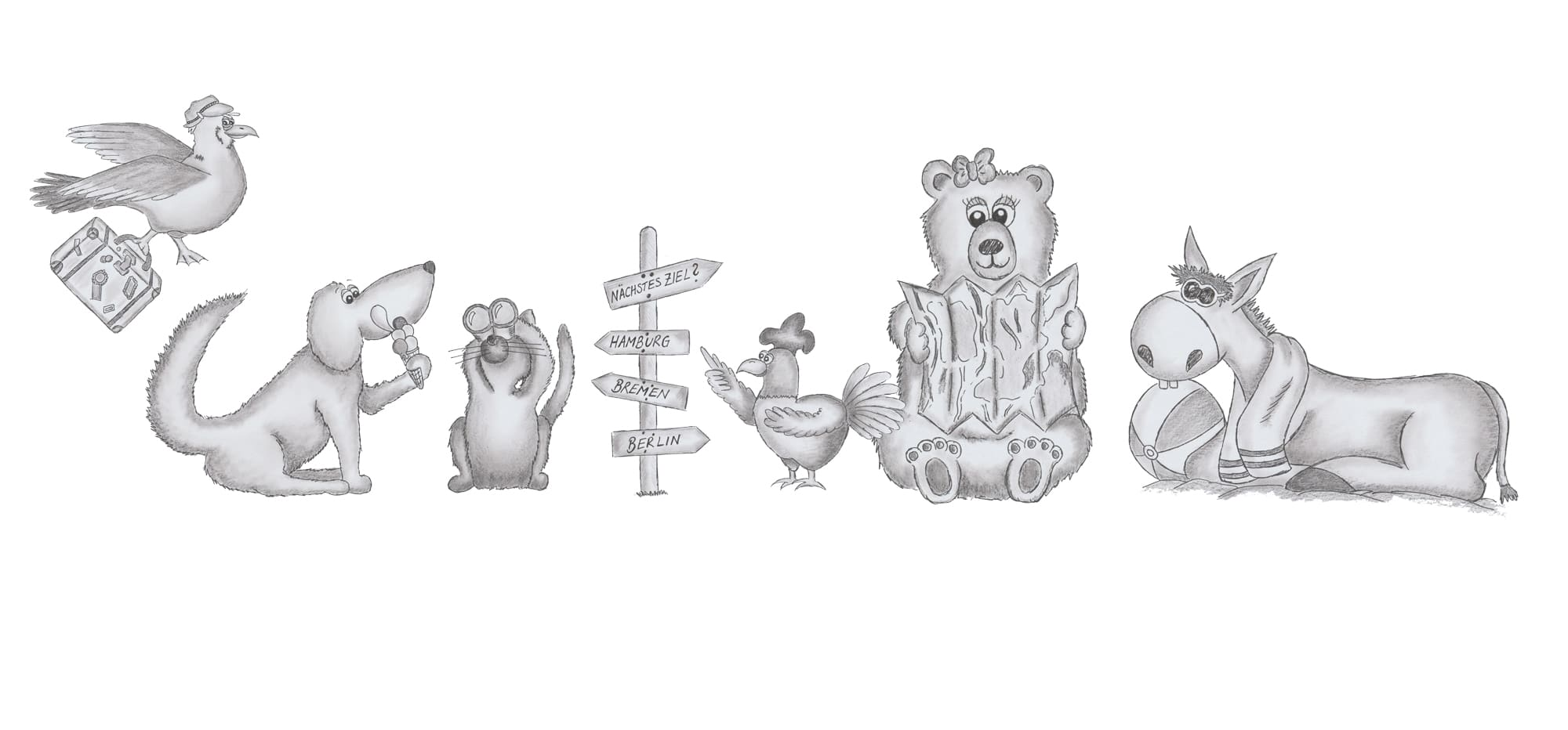 Kinderbuchverlag Bleistift Zeichnung