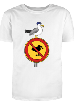 Herren T-Shirt Möwen sind hier verboten