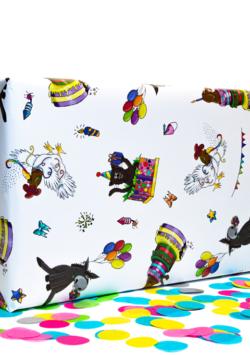 5 Bögen Geschenkpapier: Partyanimals