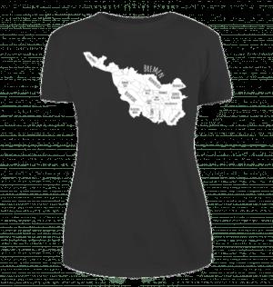 Damen T-Shirt Bremen-Map weiß