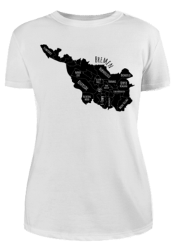 Damen T-Shirt Bremen-Map black