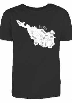 Herren T-Shirt Bremen-Map white