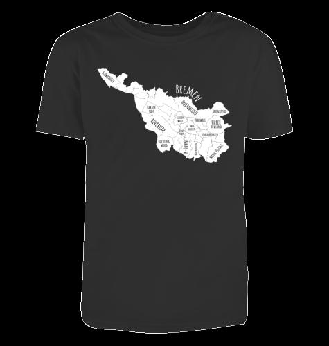 Herren T-Shirt Bremen-Map weiß