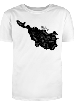 Herren T-Shirt Bremen-Map black