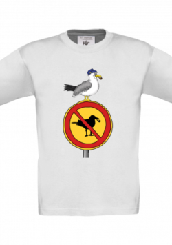 Kinder T-Shirt – Möwen sind hier verboten!