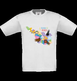 Kinder T-Shirt Bremen-Map weiß